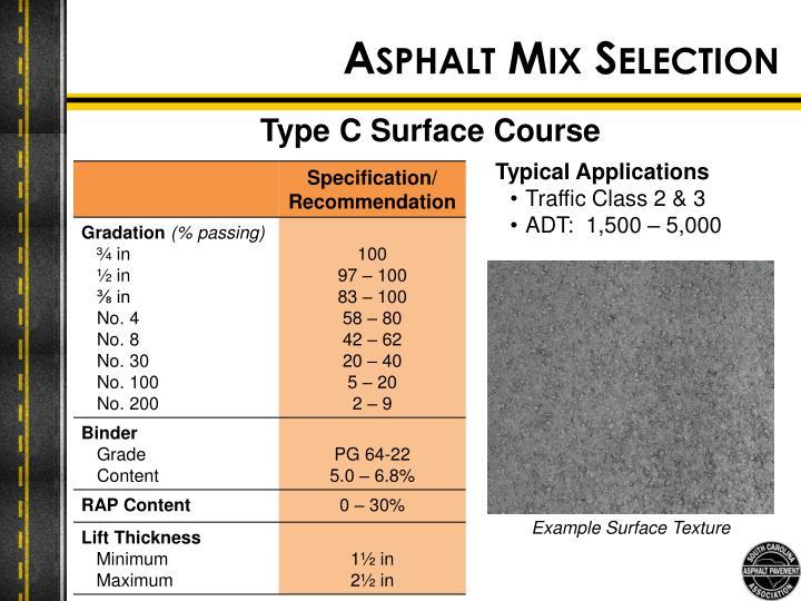 Asphalt Mix Selection