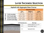 layer thickness selection1