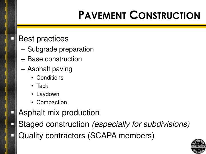 Pavement Construction