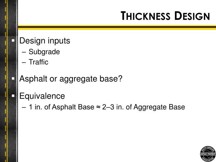 Thickness Design