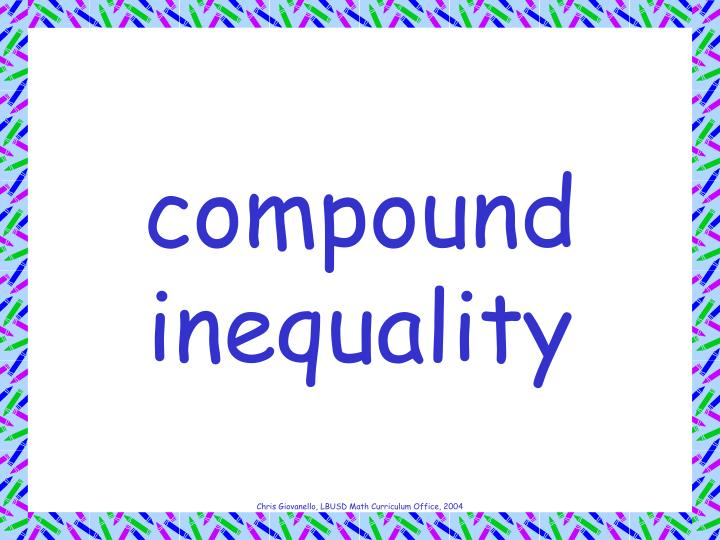 compound inequality