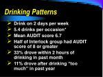 drinking patterns