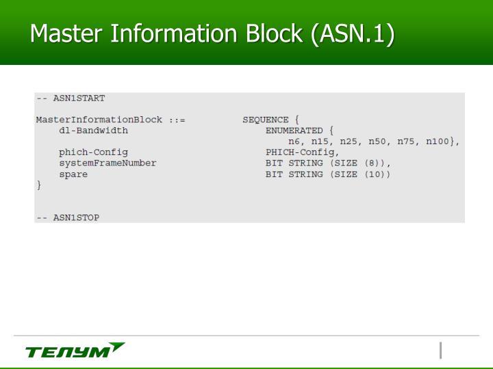 Master Information Block