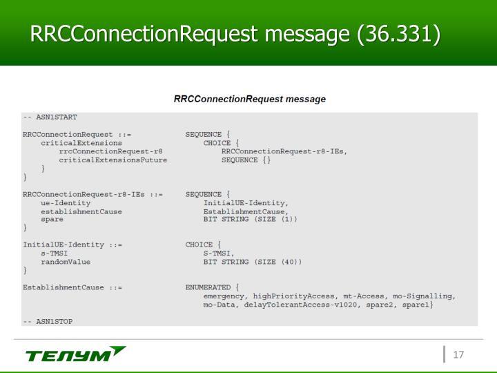 RRCConnectionRequest