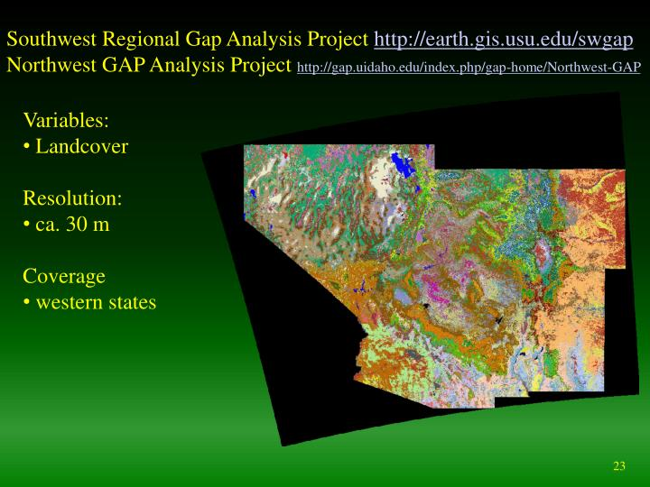 Southwest Regional Gap Analysis Project