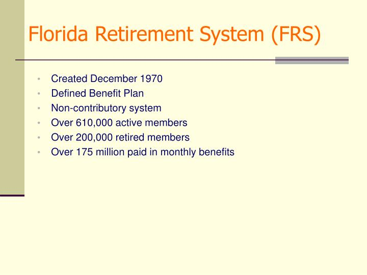 Florida retirement system frs
