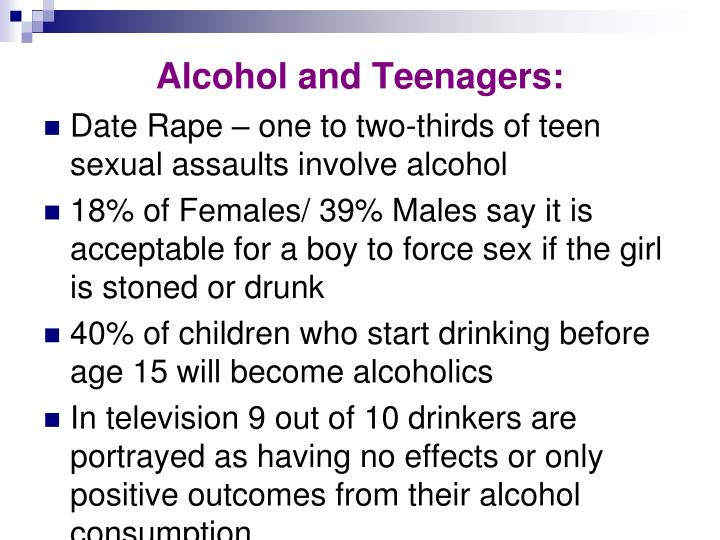 Alcohol and Teenagers: