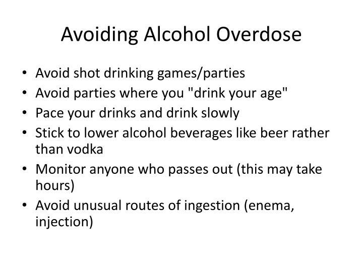 Avoiding Alcohol Overdose
