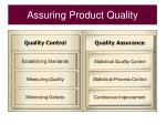 assuring product quality