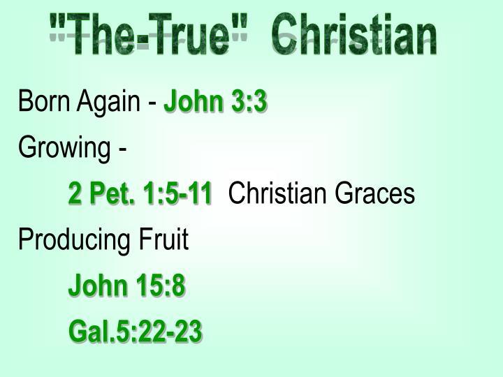 """The-True""  Christian"