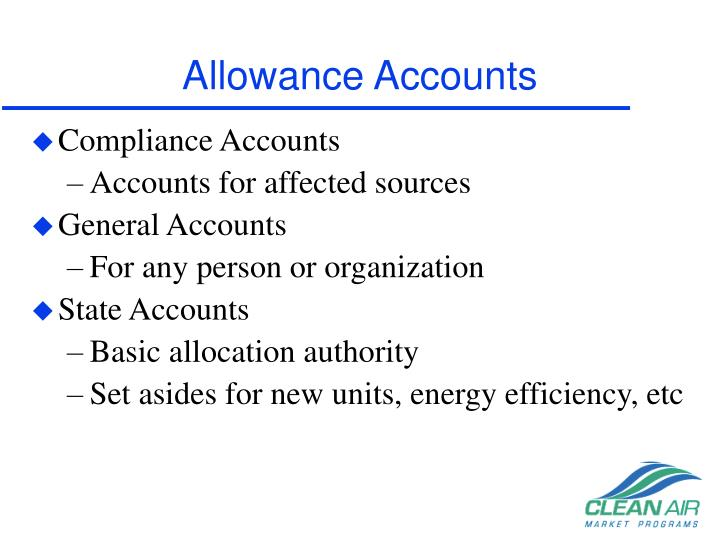 Allowance Accounts