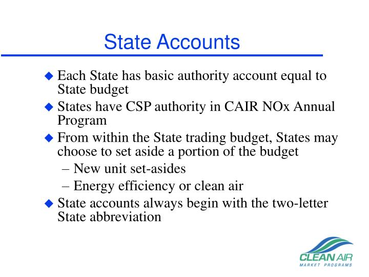 State Accounts