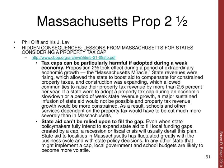 Massachusetts Prop 2 ½