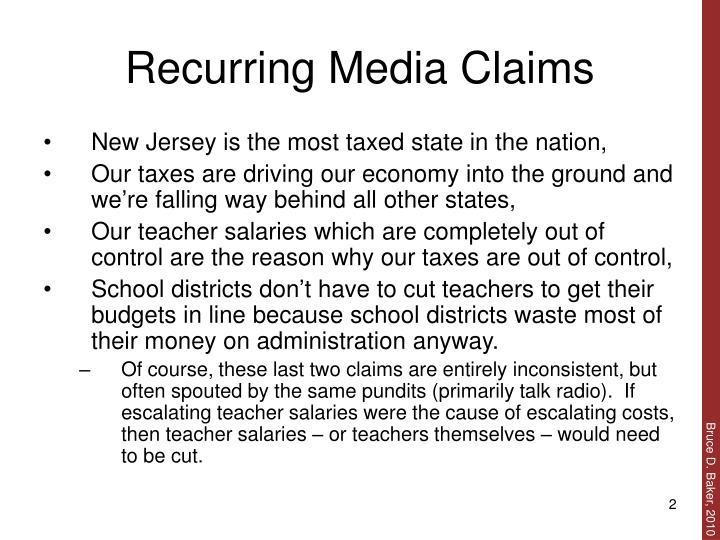 Recurring Media Claims