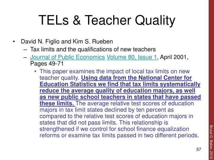 TELs & Teacher Quality