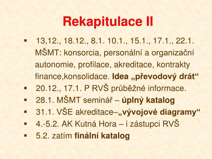 Rekapitulace II