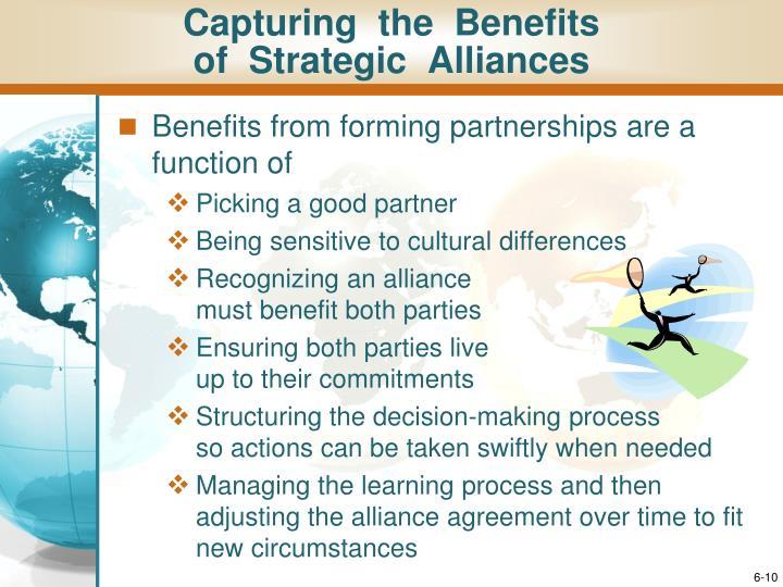 Capturing  the  Benefits