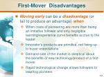 first mover disadvantages