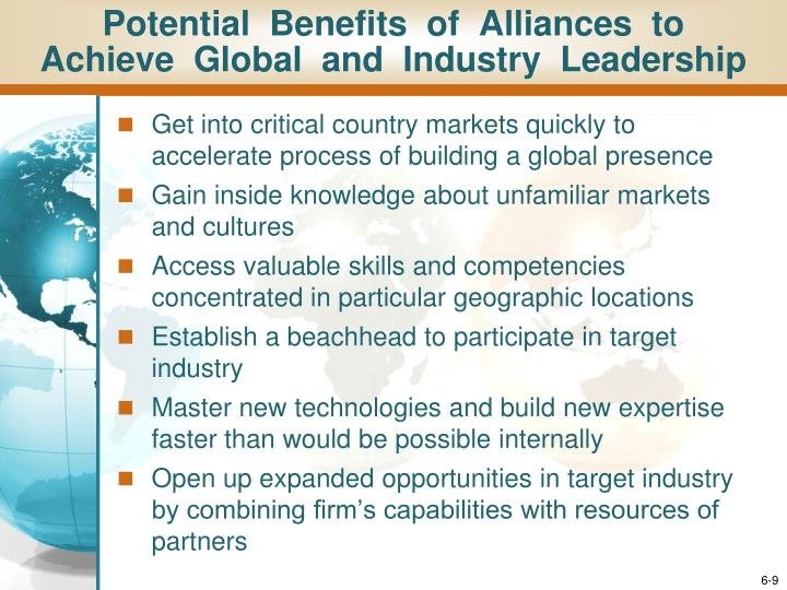 Potential  Benefits  of  Alliances  to