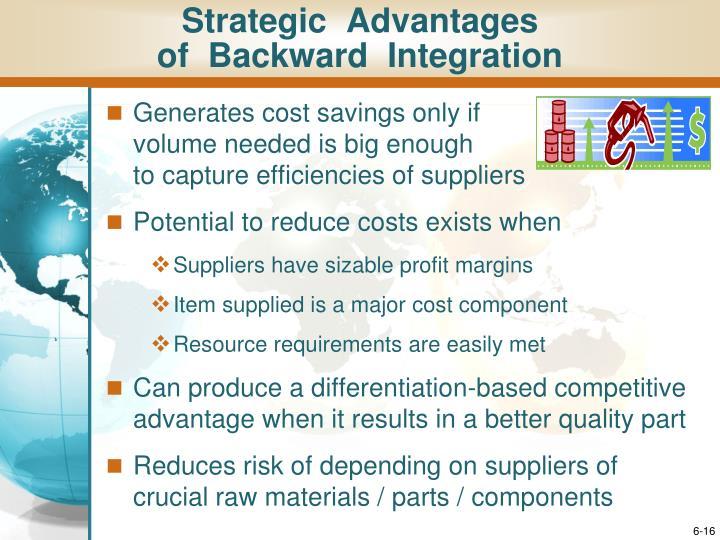 Strategic  Advantages