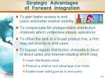 strategic advantages of forward integration