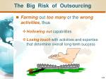 the big risk of outsourcing