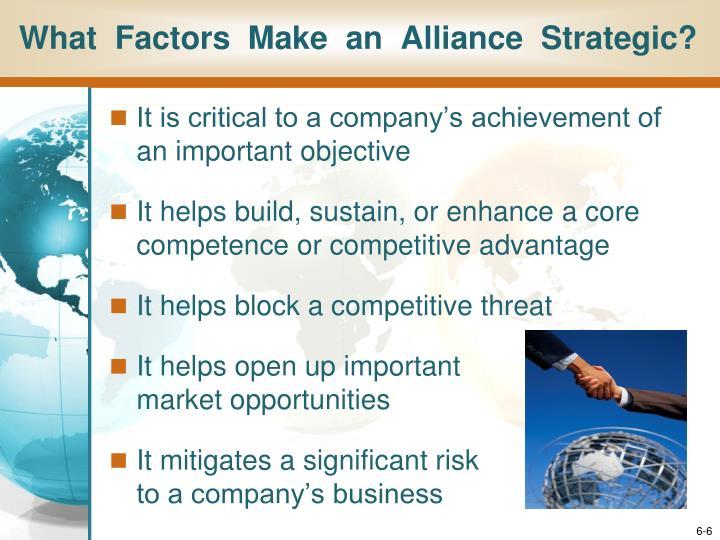 What  Factors  Make  an  Alliance  Strategic?