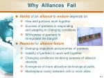 why alliances fail