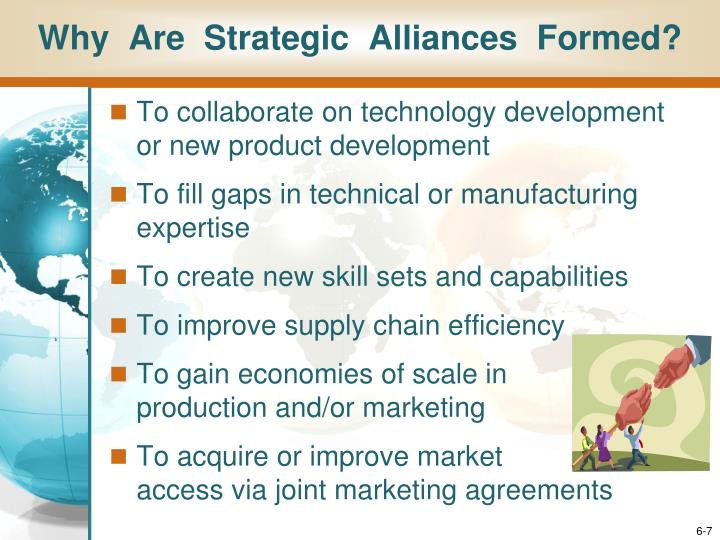 Why  Are  Strategic  Alliances  Formed?