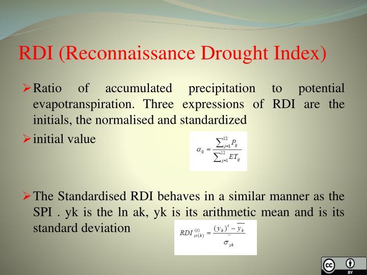 RDI (Reconnaissance Drought Index)