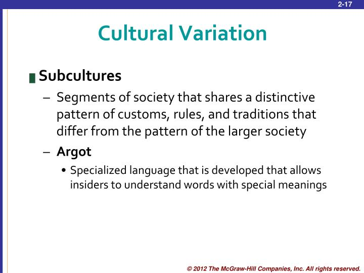 Cultural Variation