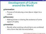 development of culture around the world