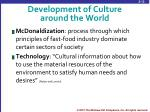 development of culture around the world3