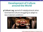 development of culture around the world5