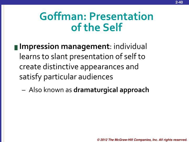 Goffman: Presentation