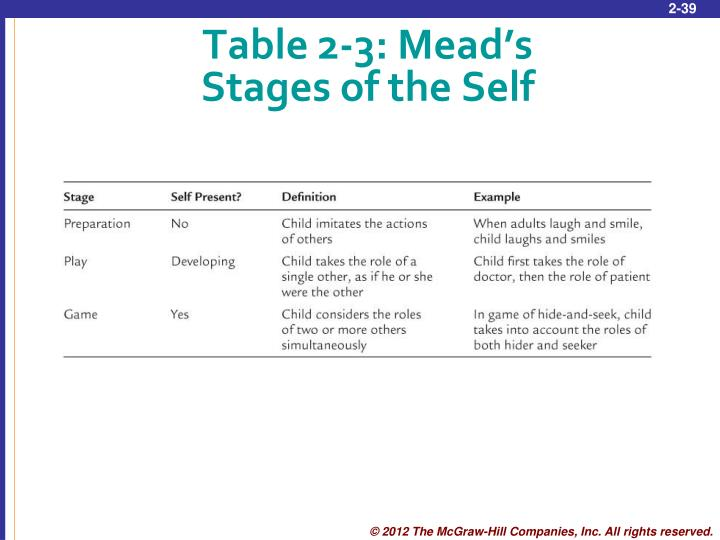 Table 2-3: Mead's