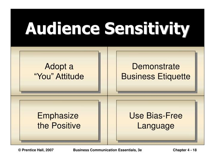 Audience Sensitivity