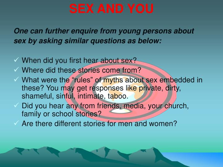 SEX AND YOU