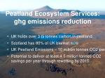 peatland ecosystem services ghg emissions reduction