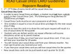 read casual dress card guidelines popcorn reading