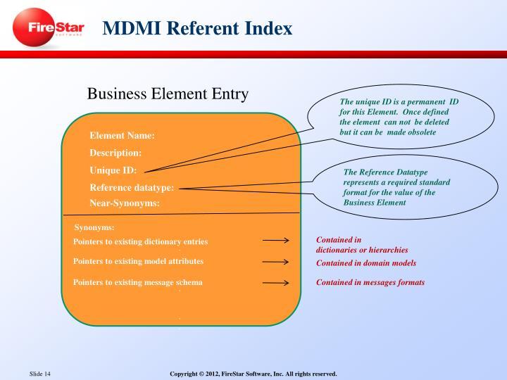 MDMI Referent
