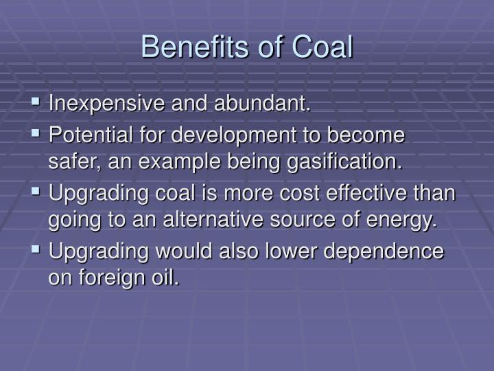 Benefits of Coal