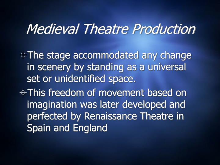 Medieval Theatre Production