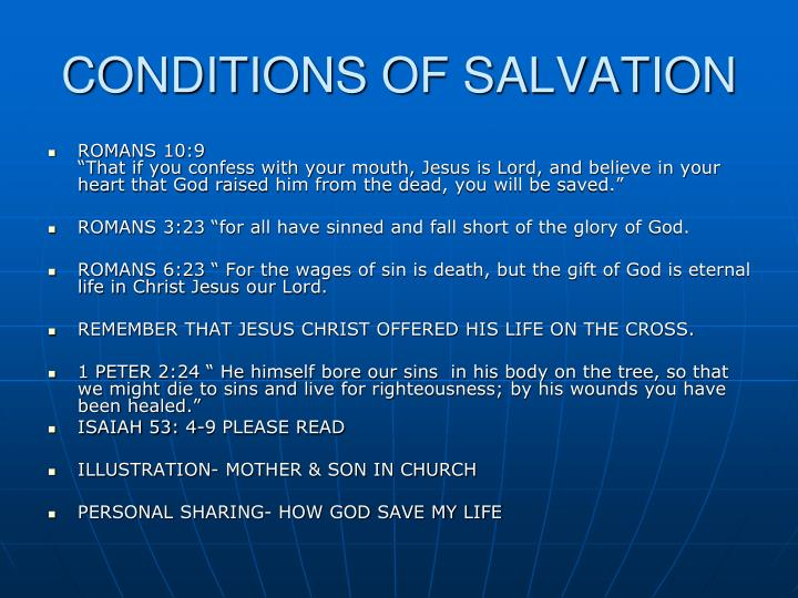 CONDITIONS OF SALVATION