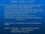 topic god s love