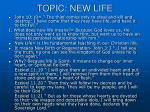 topic new life