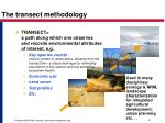 the transect methodology