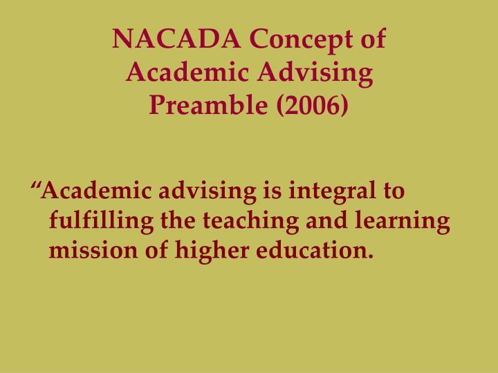 NACADA Concept of