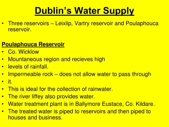 Dublin's Water Supply