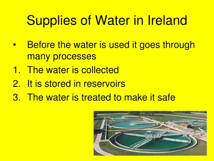 Supplies of Water in Ireland